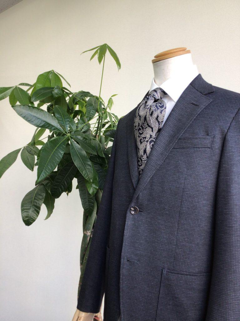 葉とスーツ
